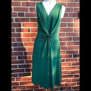 Ann Taylor Matte Jersey Knot Midi Dress - XXSP